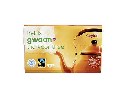 g'woon ceylon thee 20 x 2 gram