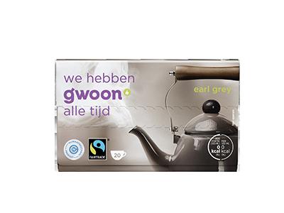 g'woon earl grey thee (kopje) 20 x 2 gram