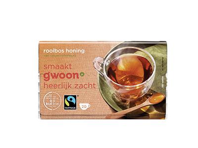 g'woon rooibos met honing 20 x 1,5 gram