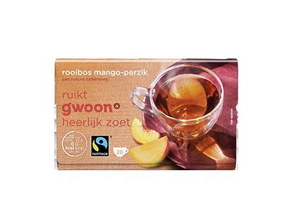 g'woon rooibos mango en perzik 20 x 1,5 gram