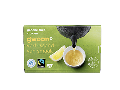 g'woon groene thee met citroen 20 x 2 gram