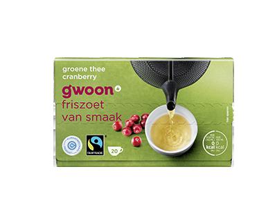 g'woon groene thee met cranberry 20 x 2 gram