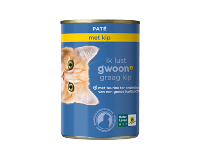 g'woon adult - paté met kip 400 gram
