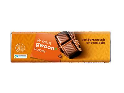 g'woon butterscotch chocolade reep 100 gram