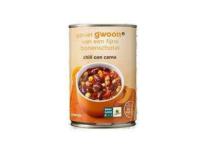 g'woon chili con carne 400 gram