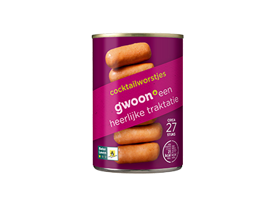 g'woon cocktail­worstjes 400 gram
