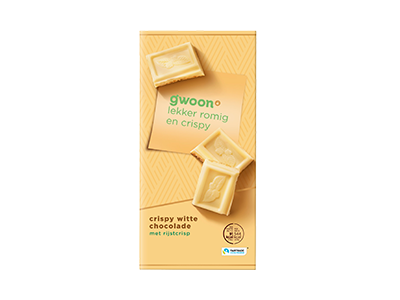 g'woon crispy witte chocolade tablet