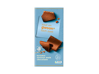 g'woon karamel zeezout melk chocolade tablet 100 gram
