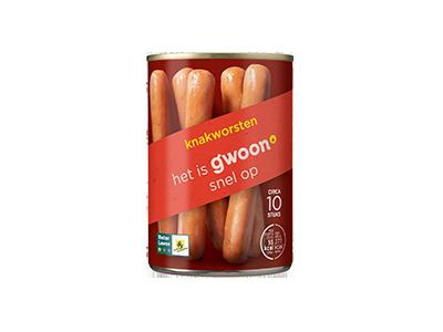 g'woon knakworsten 400 gram