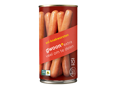 g'woon knakworsten XXL 540 gram