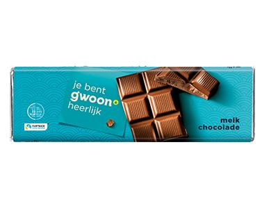 g'woon melk chocolade reep groot 180 gram