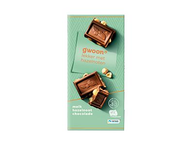 g'woon melk hazelnoot chocolade tablet 200 gram