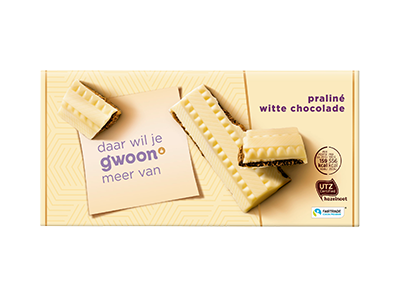 g'woon praliné witte chocolade tablet 200 gram