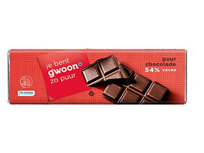 g'woon puur chocolade reep groot 180 gram