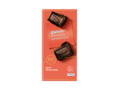 g'woon puur chocolade tablet 200 gram