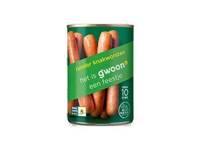 g'woon knakworsten rund 400 gram