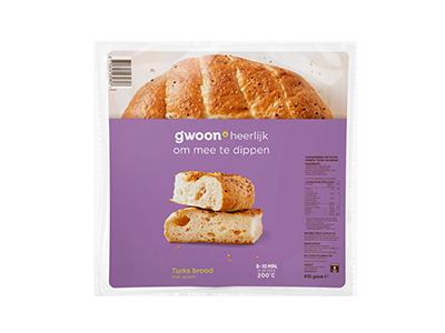 g'woon Turks brood met sesam 410 gram