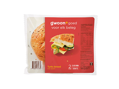g'woon Turks brood met sesam 2 x 150 gram