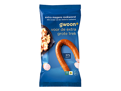 g'woon extra magere rookworst 375 gram