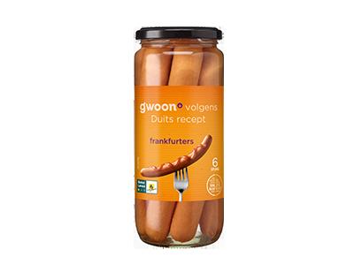 g'woon frankfurters 540 gram