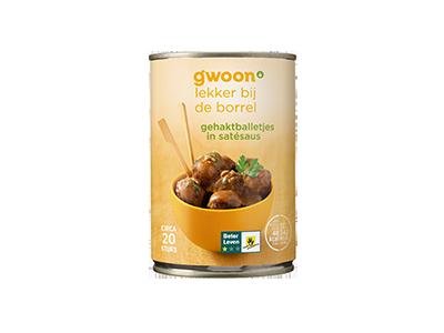 g'woon gehaktballetjes in satésaus 420 gram