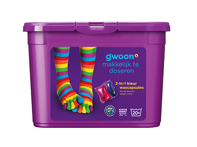 g'woon wascapsules kleur 16 st
