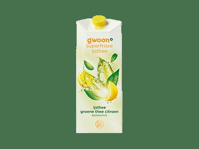 g'woon ijsthee groene thee citroen koolzuurvrij 1,5 liter