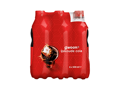 g'woon cola 6 pack 6 x 500 ml