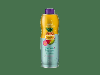 g'woon tropical vruchtensiroop 750 ml