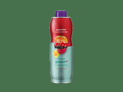 g'woon grenadine vruchtensiroop 750 ml