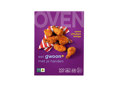 g'woon oven chickenwings 500 gram