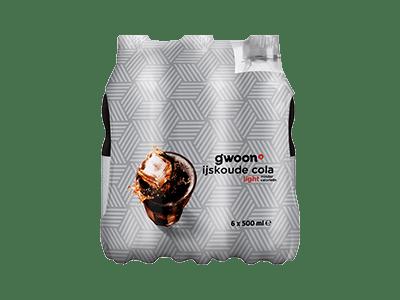 g'woon cola light 6 pack 6 x 500 ml