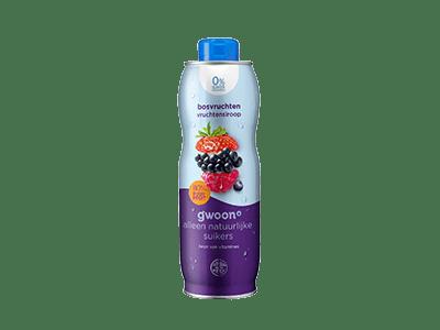 g'woon bosvruchten vruchtensiroop 0% suiker toegevoegd 750 ml