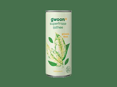 g'woon ijsthee groene thee koolzuurvrij 250 ml