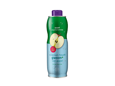 g'woon appel vruchtensiroop 750 ml