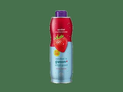 g'woon aardbei vruchtensiroop 750 ml