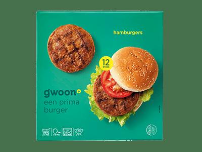 g'woon hamburgers 12 stuks