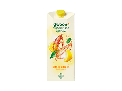 g'woon ijsthee citroen koolzuurvrij 1,5 liter