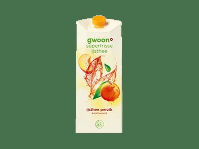 g'woon ijsthee perzik koolzuurvrij 1,5 liter