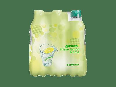 g'woon lemon-lime 6 pack 6 x 500 ml