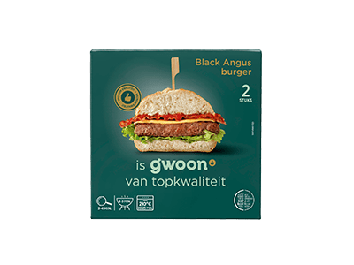 g'woon Black Angus burger 2 stuks