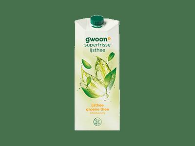 g'woon ijsthee groene thee koolzuurvrij 1,5 liter