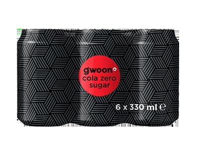 g'woon cola zero sugar 6 pack 6 x 330 ml