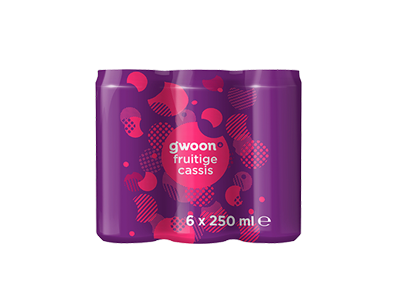 g'woon cassis 6 x 250 ml