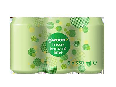 g'woon lemon-lime 6 pack 6 x 330 ml