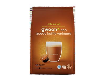 g'woon café au lait 16 capsules