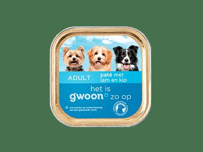 g'woon paté met lam en kip adult 150 gram