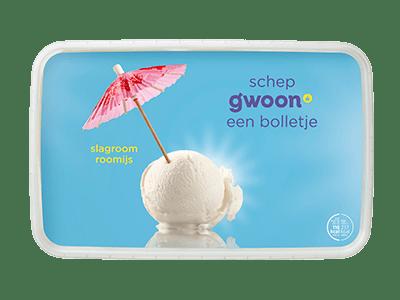 g'woon slagroom roomijs 1,5 liter