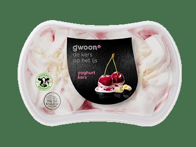 g'woon yoghurt kers ijs 200 ml