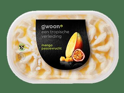 g'woon mango passievrucht ijs 900 ml